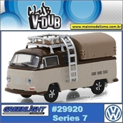 1969 Volkswagen Kombi Pickup Marrom - Greenlight V-DUB - 1/64