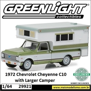 1972 - Chevrolet C10 Cheyenne e Larger Camper - Greenlight - 1/64