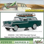 1955 - Chevrolet Nomad c/Prancha - Greenlight - 1/64