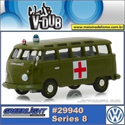 1964 Volkswagen Kombi Ambulância do Exécito - Greenlight V-DUB - 1/64