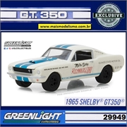 1965 - Shelby GT350 Branco - Greenlight Exclusive - 1/64