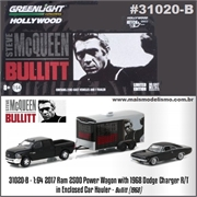 BULLIT - 1968 Dodge CHARGER R/T - Greenlight Hitch and Tow - 1/64