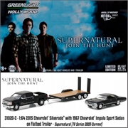 SUPERNATURAL - 1969 Chevrolet IMPALA Sport Sedan - Greenlight Hitch and Tow - 1/64