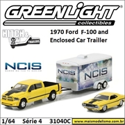 NCIS - 2015 RAM 1500 - 1970 Dodge Challenger R/T e Trailer - Greenlight - 1/64
