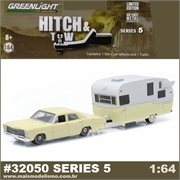 1967 Ford Custom and Shasta Trailer - Greenlight Hitch and Tow - 1/64