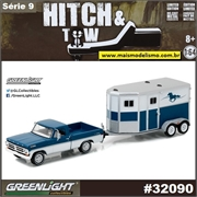1972 Ford F-100 and Horse Trailer - Greenlight Hitch and Tow - 1/64