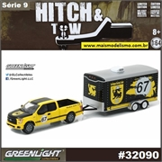 2015 Ford F-150 and Car Trailer - Greenlight Hitch and Tow - 1/64