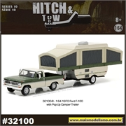 1970 Ford F-100 and Pop-Up Trailer - Greenlight Hitch and Tow - 1/64