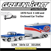 1970 Ford F-100 and STP Trailer - Greenlight Hitch and Tow - 1/64