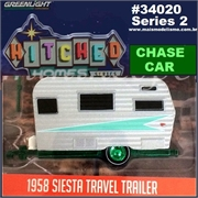 1958 - SIESTA Travel Trailer CHASE - Greenlight - 1/64