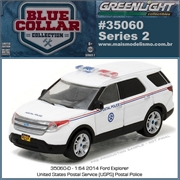 2014 - Ford Explorer Interceptor USPS Police - Greenlight - 1/64