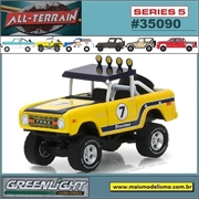 1972 - Ford Bronco Baja 7 Amarelo - Greenlight - 1/64