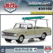 1970 - Chevrolet C-10 Pickup - Blue Collar Greenlight - 1/64