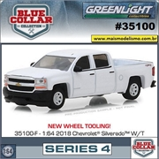 2018 - Chevrolet Silverado 1500 - Blue Collar Greenlight - 1/64