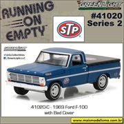 1969 - Ford F-100 with Bed Cover - Greenlight - 1/64