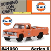 1965 - Dodge D-100 GULF Laranja - Greenlight - 1/64