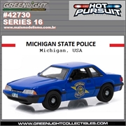 HP 16 - 1992 Ford Mustang MICHIGAN State Police - Greenlight - 1/64