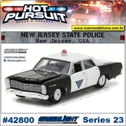 HP 23 - 1967 Ford Custom New Jersey Police - Greenlight - 1/64