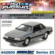 HP 23 - 1991 Ford Mustang SSP Kentucky Police - Greenlight - 1/64