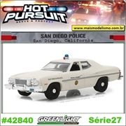 HP 27 - 1975 Ford Gran Torino San Diego Police - Greenlight - 1/64