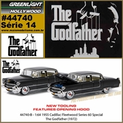 GL HOLLYWOOD 14 - 1955 Cadillac Fleetwood Series 60 - Greenlight - 1/64
