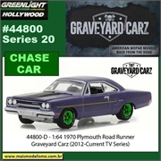 GL HOLLYWOOD 20 - 1970 Plymouth Road Runner CHASE CAR - Greenlight - 1/64