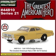GL HOLLYWOOD 21 - 1978 Dodge Monaco - Greenlight - 1/64