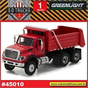2017 - INTERNATIONAL WorkStar Dump Truck Vermelho - Greenlight - 1/64