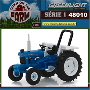 1982 - Trator Ford 5610 Azul - Greenlight - 1/64