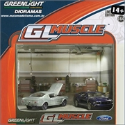 GL MUSCLE Diorama Oficina Ford Mustang - Greenlight - 1/64