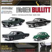 GL BULLITT DIORAMA 4 Carros - Greenlight - 1/64