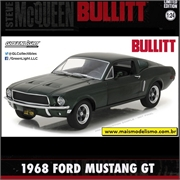 1968 - Ford Mustang GT - BULLITT - Greenlight - 1/24