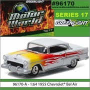 MW 17 - 1955 Chevrolet BEL AIR Branco - Greenlight - 1/64