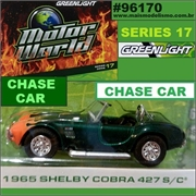 MW 17 - 1965 Shelby COBRA 427 S/C CHASE CAR - Greenlight - 1/64