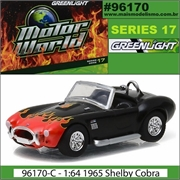 MW 17 - 1965 Shelby COBRA 427 S/C Preto - Greenlight - 1/64