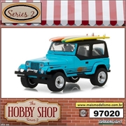 1987 - Jeep Wrangler YJ with Surfboards - Greenlight - 1/64