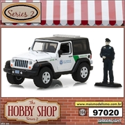2016 - Jeep Wrangler US Customs with Customs Officer - Greenlight - 1/64