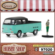 Volkswagen Type 2 Crew Cab with Backpacker - Greenlight - 1/64