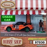 2011 - Nissan GT-R (R35) with Race Car Driver CHASE CAR - Greenlight - 1/64
