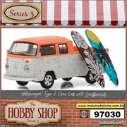 Volkswagen Kombi Crew Cab with Surfboards - Greenlight - 1/64