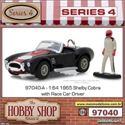 1965 - Shelby Cobra 427 S/C with Race Car Driver - Greenlight - 1/64