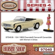 1969 - Chevrolet Camaro SS with Woman in Dress - Greenlight - 1/64
