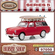1962 - Volkswagen Squareback with Surfboards - Greenlight - 1/64