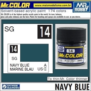 Tinta Gunze Laca Acr Mr Color C 14 AZUL MARINHA Semi-Brilho - 10ml