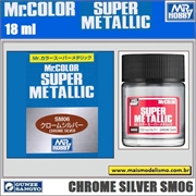 Tinta Gunze Mr Color SUPER METALLIC SM06 PRATA CROMATA - 18ml