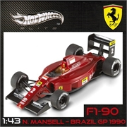 1990 - FERRARI F1-90 NIGEL MANSELL - Hot Wheels - 1/43