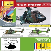 Helicóptero AS332 M1 Super Puma - Kit Complete Heller - 1/72