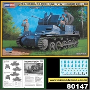 German Flankpanzer IA with Ammo Trailer - Hobby Boss - 1/35