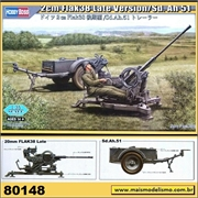 2 cm Flak 38 Late Version / Sd. Ah 51 - Hobby Boss - 1/35