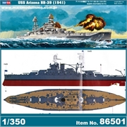 USS ARIZONA BB-39 (1941) - Hobby Boss - 1/350